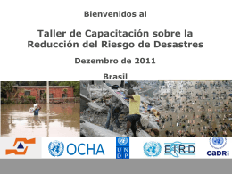 Capacity for Disaster Reduction Initiative