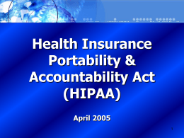 What is HIPAA? - University of California