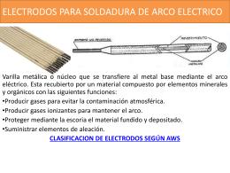 ELECTRODOS PARA SOLDADURA DE ARCO ELECTRICO