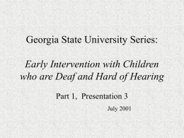 Auditory Bases of Spoken Language and Instructional …