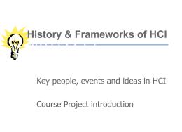 History of HCI