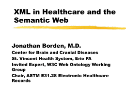 XML Healthcare: the OpenHealth