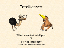 Intelligence - Solon Schools