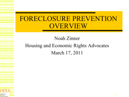 Foreclosure Process and Alternatives to Foreclosure