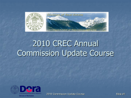 2009 CREC Update Course