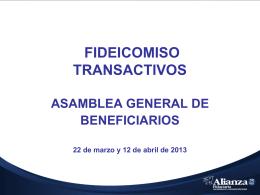 FIDEICOMISO TRANSACTIVOS ASAMBLEA GENERAL DE …