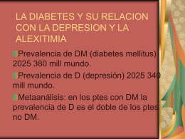 LA DIABETES Y SU RELACION CON LA DEPRESION Y LA …
