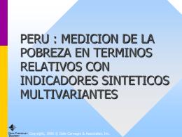 PERU : MEDICION DE LA POBREZA EN TERMINOS …