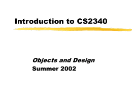 Introduction to CS2340