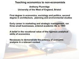 Teaching economics to non
