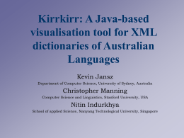 Kirrkirr: A Java-based visualisation tool for XML