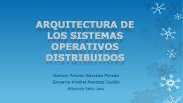 Arquitectura de los sistemas operativos distribuidos