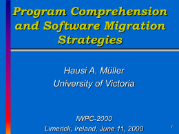 Software Migration Strategies