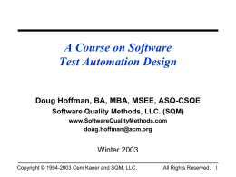 Software Test Automation Design - Digi-ED