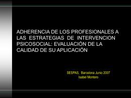 ADHERENCIA DE LOS PROFESIONALES A LAS …