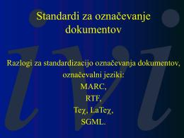 Standardi za označevanje dokumentov