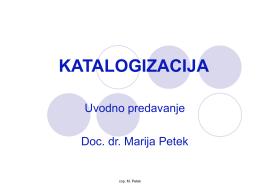 KATALOGIZACIJA