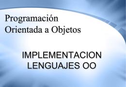 Iimplementacion, Lenguajes OO