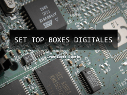 SET TOP BOXES DIGITALES