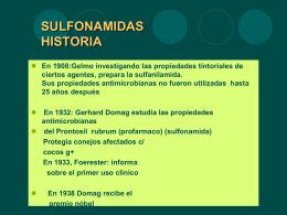 Sulfonamidas - farmacologiadraaragon
