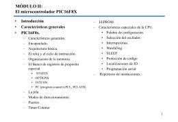 ARQUITECTURA DEL MICROCONTROLADOR