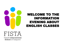 WELCOME TO THE INFORMATION NIGHT ABOUT …