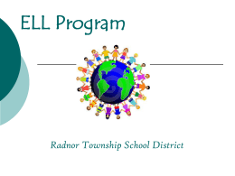 ELL Program Radnor Township School District