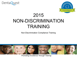 Non-Discriminatoin Training New Hire