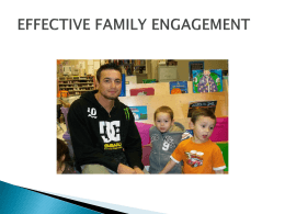 Effective Family Engagement
