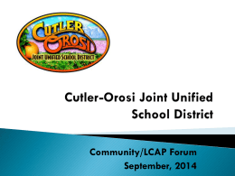 Accountability - Cutler-Orosi Joint Unified School District