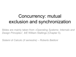 Concurrency: mutual exclusion and