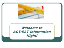 Senior SAT/ACT Registration Night