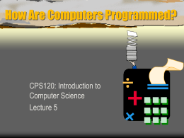 How Are Computers Programmed?
