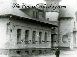 The Finnish school system