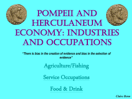 Pompeii and Herculaneum Economy: Industries and …