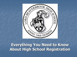 Exellence in Education - Lord Beaverbrook High School