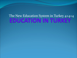 EDUCATION IN TURKEY - Kırşehir İl Milli Eğitim