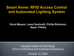 RFID Smart Home System