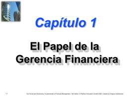 Chapter 1 -- The Role of Financial Management