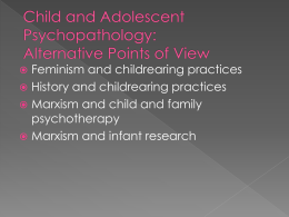 Child and Adolescent Psychopathology: Alternative Points