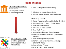 Trade Theories - Monash Tutorials