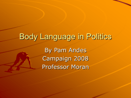 Body Language in Politics - New Jersey City University …
