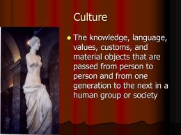 Culture - cawley's classroom