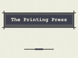The Printing Press - Vista Unified School District