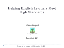 Building English Learners' Academic English in the Four