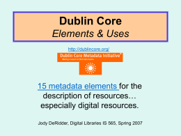 Dublin Core Elements & Uses