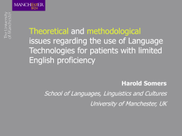 Language Engineering and the Pathway to Healthcare: A …