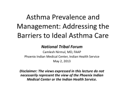 Asthma in the Native American Population: The Phoenix …