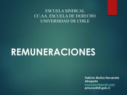 REMUNERACIONES - Escuela Sindical