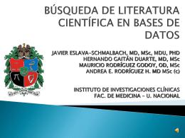 BUSQUEDA SISTEMATICA DE LA LITERATURA